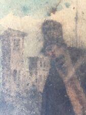 """RITRATTO del """"TECOPPA"""", dipinto su cartoncino 13,5 x 20,5 cm."""