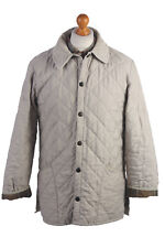 Vintage Men's Barbour Eskdale Quilted Jacket Beige Chest 43'' BR406