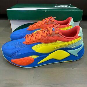 Puma Men's RS-X3 Jr Puzzle Sneakers HD3 Palace Blue 371570-14 Size 8.5 New