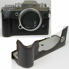 Half leather case bag + hand strap grip For Fujifilm X-T4 Xt4 Digital Camera