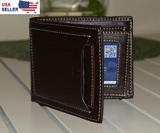 New Genuine Leather Wallet for Men, Excellent Gift, Black - Fast Shipping