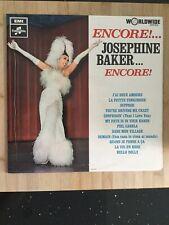 Josephine Baker: Encore Rare Original Vinyl LP:  Excellent Con: Free UK Post
