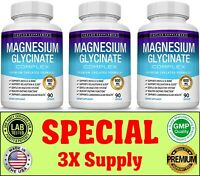 Magnesium Glycinate 600 MG Complex High Absorption Mag Supplement Magnesium 3 Mo