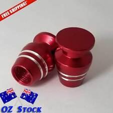 4pcs Red Wheel Tyre Valve Caps Air Dust Cover Aluminium Car -Oz Stock