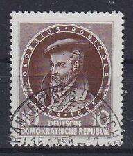 DDR Mi Nr. 497 F 32, PF Punkt auf Stirn, gest., Plattenfehler, used