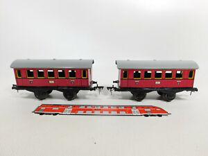 CR578-0,5# 2x Spur 0 Personenwagen 2041,Fleischmann Kupplungen; US Zone Germany