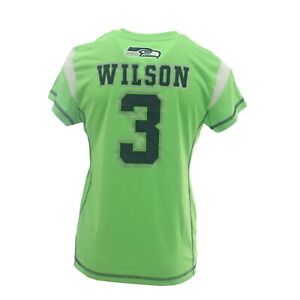 Seattle Seahawks Kids Youth Girls Wilson NFL Jersey Style Athletic Shirt New