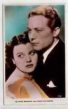 (La8174-180) Real Photo of Olympe Bradna & Gene Raymond, Unused, EX