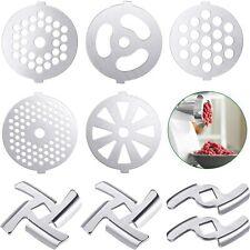 9 Pcs Meat Grinder Blades Plate Discs Sets For Size 5 Stand Mixer /Meat Grinder