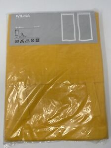 """Ikea Wilma Curtains 57 X 118"""" Or 145 X 300 Cm Bright Gold Color New In Package"""