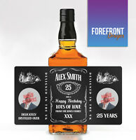 Personalised Tennessee Whiskey/Whisky Bourbon PHOTO Bottle Label/ Birthday Gift