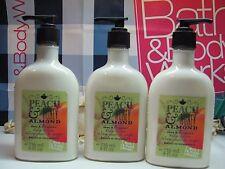 Bath and Body Works 3 ~ Peach & Honey Almond  ~ Shea & Vitamin E Body Lotion