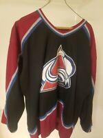 Vintage Colorado Avalanche NHL Adult Hockey Jersey Starter Brand Sewn Size L