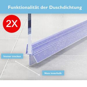 2 x100cm Duschdichtung Ersatz Tür Dichtung Wasserdicht Profil Leiste 4mm 5mm 6mm