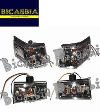 8997 FRECCE COMPLETE BIANCHE TRASPARENTI VESPA 125 150 200 PX ARCOBALENO DISCO