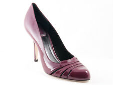 New Christian  Dior D Glam Plum patent Leather Shoes 36.5 US 6.5