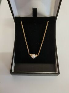9ct Yellow Gold Pearl Necklaces
