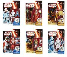Star Wars The Force Awakens - Complete set of 6 Snow Desert 3.75 inch AF, MINT!
