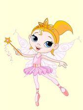 ART PRINT POSTER NURSERY FAIRY BALLERINA DANCER MAGIC WAND KIDS BEDROOM LFMP0797