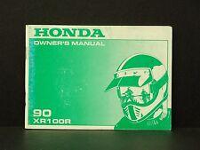 1990 Honda XR100 R Specs Maintenance Owners Manual 00X31-KN4-6500