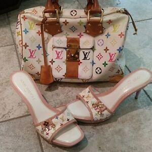 Louis Vuitton Monogram Multi Colored  Heel /Sandals Shoes 39.5