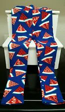LuLaRoe 2017 Americana Capsule 4th July Kids L/XL Leggings NWT Watermelon