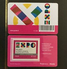 ITALIA 2012 EXPO 2015 MILANO tessera filatelica
