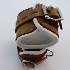Lockable Thick leatherPadded WRIST CUFFS CU-93-LEA, FREE UK DELIVERY