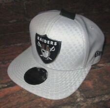 MENS NEW ERA NFL 9FIFTY OAKLAND RAIDERS WHITE SNAPBACK ADJUSTABLE HAT