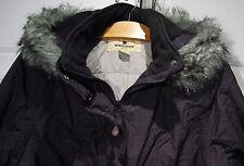 "VINTAGE ""WOOLRICH"" -Removeable Hood- Ski JACKET Parka Coat Women's Size M Black"