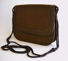Magid Chocolate Brown Fabric Purse Shoulder Evening Bag Clutch Small Handbag