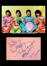 THE BEATLES Sgt PEPPER LENNON PAUL McCARTNEY STARR HARRISON SIGNED (PRINTED) A4