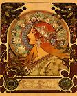 Zodiac Horoscope Astrology by Alphonse Mucha Deco 16X20 Vintage Poster FREE S/H