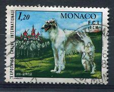 MONACO - 1978, timbre 1164, CHIEN BARZOI, ANIMAUX, oblitéré