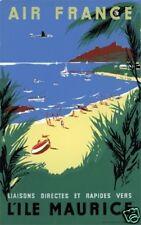 Affiche AIR FRANCE  -  L'Île Maurice - Renluc 1954