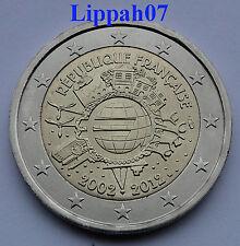 Frankrijk 2 euro 10 jaar Euro 2012 UNC
