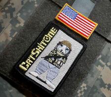 DAESH WHACKER US GREEN BERETS SAS JTF2 KSK vel©®Ø 2-TAB: CAT-SHIT-ONE + US FLAG