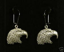 Pewter Eagle Head Dangle Earrings by Empire Pewter