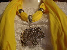 Free Ship! Beautiful Yellow Jewelry scarf  ~Get it Fast~ US Seller