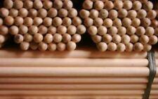 "PACK OF 10 Wooden Broom Handles 5ft x1-1/8"" (1500 x 28mm)sweep brush sweeping PK"