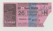 Orig.Ticket  DFB Pokal 1975/76  HAMBURGER SV - BAYERN MÜNCHEN  1/2 FINALE  !!