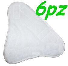 SET 6 PANNI MICROFIBRA PER SCOPA A VAPORE X5 H2O MOP H20  CON VELCRO PAVIMENTO