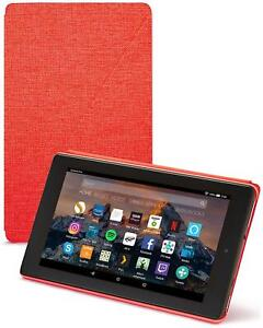 Amazon Fire 7 Tablet Protective Standing Case Cover - Red - New