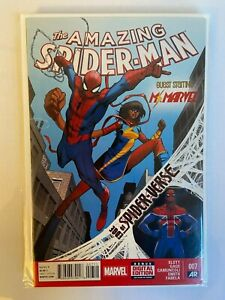 Amazing Spider-Man #7 2014 First Appearance Spider-Man UK Ms. Marvel NM