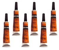6 x Liquid Gold Glue 1/2 oz Hair Extension/Bond/Weave/Weft suitable for all hair