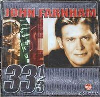 33 1/3 by John Farnham (CD, Dec-2000, BMG International) VGC