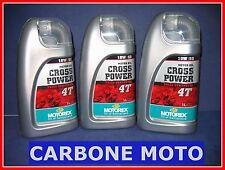 3 LITRI OLIO MOTOREX CROSS POWER 10W50 4T 100% SINTETICO CONSIGLIATO KTM