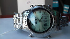 Casio VINTAGE COLLECTION Abx-600-7A FLOATING LCD TWINCEPT watch RARE NOS MONTRE