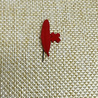 Vintage Rare Red Cross Volunteer Feather Tie Lapel Pin