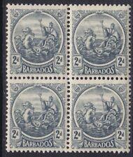 BARBADOS 1921-24 SG221 2d  GREY BLOCK OF FOUR MNH